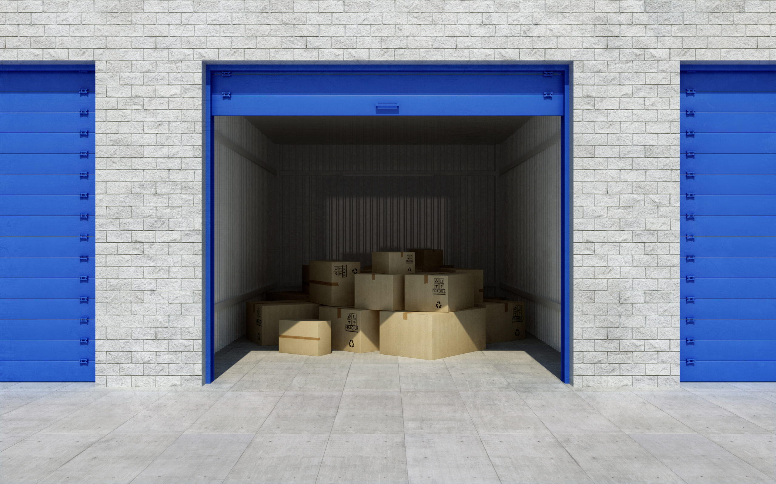 Storage unit as it would look in a storage auction
