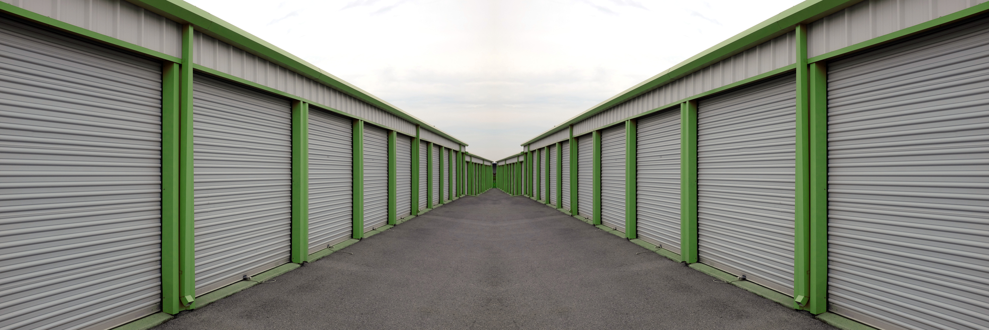 Storage units in two rows